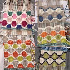 2015.7.4スウェーデンの小さな織り機で織るブローチのワークショップ本日も無事終了しました!・色の選び方でこんなに楽しい組み合わせができてステキになるんですね!・完成作品は後ほどね〜・#スウェーデン #weaving #handmade #札幌 #織り #ブローチ #ホールキュロス #メガネ織り Loom Weaving, Honeycomb, Quilts, Blanket, Crochet, Google, Inspiration, Ideas, Animales