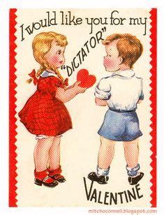 vintage everyday: Valentines WTF – A Collection of 47 Weird and Creepy Vintage Valentine's Day Cards My Funny Valentine, Valentine Images, Valentines Day Greetings, Vintage Valentine Cards, Vintage Holiday, Valentine Day Cards, Happy Valentines Day, Saint Valentine, Valentine Stuff