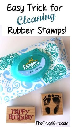 How to Clean Your Rubber Stamps! ~ at TheFrugalGirls.com - this simple little stamp cleaning trick works like a charm! #stamping #thefrugalgirls