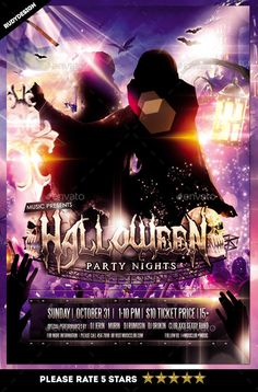 Halloween Costume Party Night Flyer Template PSD #design Download: http://graphicriver.net/item/halloween-costume-party-night-flyer/13070238?ref=ksioks