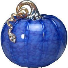 Small Purple Glass Pumpkin