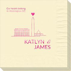 We Love Washington DC Napkins