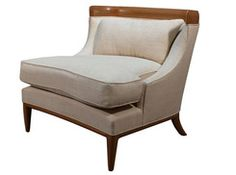 chair with wood trim
