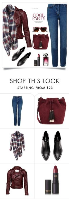 """""""Untitled #433"""" by jovana-p-com on Polyvore featuring Topshop, Loeffler Randall, LE3NO and Lipstick Queen"""