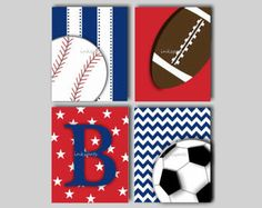 Items similar to Baseball Nursery Art Sports Nursery Sports Decor Sports Wall Art Baseball Art Football Art Baby Boy Nursery Art Baseball Decor on Etsy Football Nursery, Football Canvas, Football Art, Toddler Boy Room Decor, Boys Room Decor, Room Boys, Boy Rooms, Kids Rooms, Sports Wall