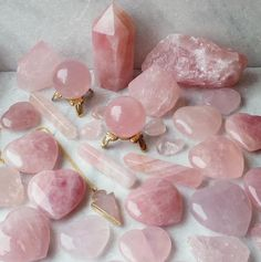 pink and crystal