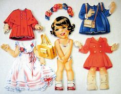 Children's Fabric paper Doll Cutie  Pam by KellettKreations, $10.95