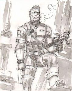 Nick Fury drawing
