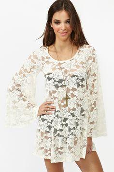 Willow Lace Dress - super cute for the beach  http://facebook.com/proglamchick