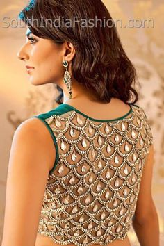 Stone worked Saree Blouse