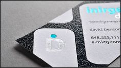 have fun with texture in design with raised ink business cards - Raised Lettering Business Cards