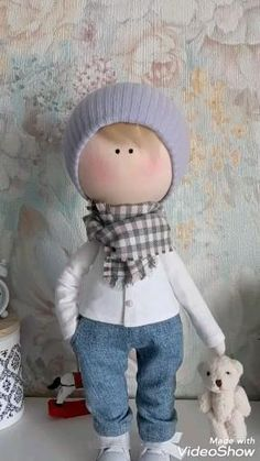 Child Doll, Boy Doll, Fabric Dolls, Fabric Art, Art And Hobby, Pin Pin, Soft Dolls, Cloths, Kids Room