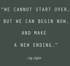 Don't forget about the pass. But, let's make a fresh start!