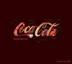 Artista recria o logo da Coca-Cola com órgãos internos