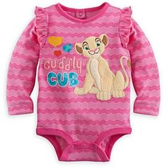 Nala Long Sleeve Disney Cuddly Bodysuit for Baby Disney Baby Clothes, Baby Kids Clothes, Baby Disney, Baby & Toddler Clothing, Cute Outfits For Kids, Toddler Girl Outfits, Boy Outfits, Lion King Baby, Lion King Nursery