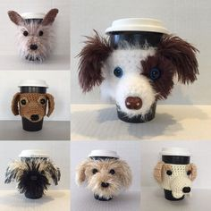 The best part of waking up is a HookedbyAngel cozy on your cup. #hookedbyangel #rescuelove #dogloversfeed #customdog #lovemydog #handmadeisbest #coffeecozy #coffeekoozie