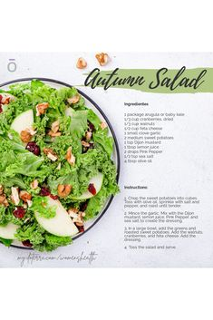 An autumn salad will really hit the spot this October! I always find a salad to be the perfect healthy meal that still has a lot of flavors. This recipe calls for Pink Pepper in the salad dressing, which gives it a slight kick. I like to use cranberries and walnuts, but feel free to substitute your favorite fruits and nuts!