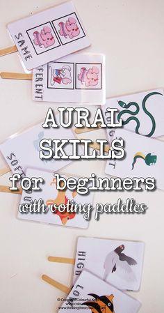 Aural skills for piano preschoolers