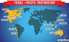 Acuerdo Transpacífico de Cooperación Económica (TPP), firmado en abril de 2016 por Australia, Canadá, Estados Unidos, Japón, Malasia, México, Perú, Brunéi, Chile, Nueva Zelanda, Singapur y Vietnam.