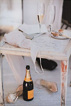 Kick off your shoes and pop some champagne! #VeuveClicquot