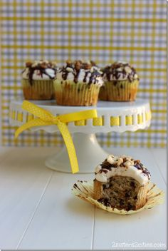 Delicious Chunky Monkey Cupcakes