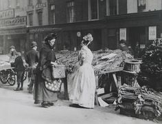 Fishmonger's Wife, The New Cut Market, London by Paul Martin 1892