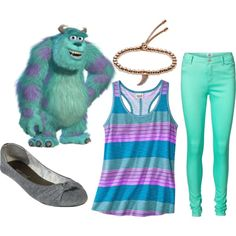 Monsters Inc 1 by jboothyy on Polyvore featuring polyvore, fashion, style, Mossimo, Vero Moda, Wet Seal and Michael Kors