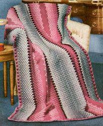 Empire Afghan free pattern (Tunisian crochet)