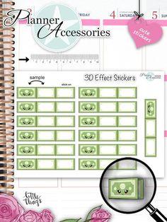 Sticker - 3D effekt Sticker - Money Sticker NR858 - ein Designerstück von PlannerAccessories bei DaWanda
