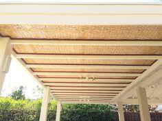 Forro em Bambu para Pergolado. www.cobrire.com.br #cobrire #deck #pérgola #bamboo #pergolado #cobertura #estrutura #bambu #quiosque #madeira #design #arquitetura #paisagismo #decoração #decor #architecture #archilovers #architect #wood #landscape #outdoors #style #life #lifestyle #sun #summer #casa #deckdemadeira#construção