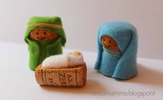 Nativity Crafts for Kids is part of Small Cork crafts - Simple wine cork, felt and elastic band nativity crafts for kids, no glueing, no cost kids craft
