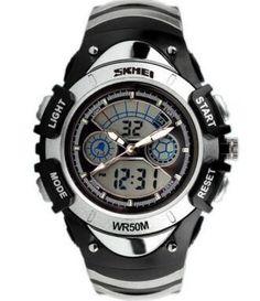 362323d0e853 Fashion SKMEI Children Kids Watches 2 Time Zone Digital Quartz  Multifunctional 30m Water Resistant Dive Student Sports Watch