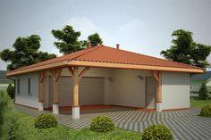 projekt G66 - Budynek garażowo - gospodarczy PRA1080