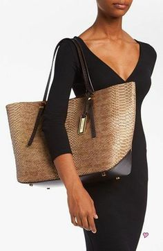 Michael Kors 'Gia' Python Embossed Leather Tote Nordstrom