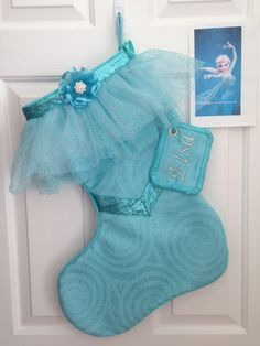 Disney's Elsa Stocking from the movie Frozen by LillyAnnesCloset, $70.00