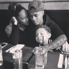 Bow Wow with his Fiance and her son.