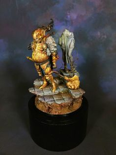 Gold Smoke Knight painted by Sascha