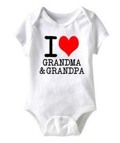 White 'I Love Grandma & Grandpa' Bodysuit - Infant by It's All Relative #zulily #zulilyfinds