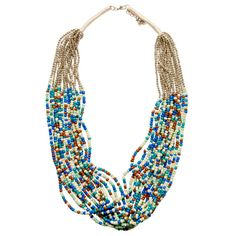 Beautiful Layered Bead Necklace. Isle of Mine. Online Sequins and Sand, $24.95