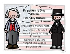 Presidents Day Math and Literacy Bundle