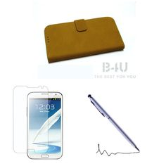 PU Leather Wallet Flip Cover Stand Case For Samsung Galaxy S4 i9500+Stylus+Film