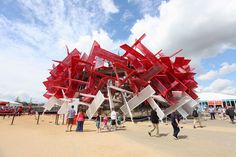 Coca cola pavilion. London Olympics 2012. AndArchitects. Contractor Nussli. Design Pernilla & Asif. 6 months on site