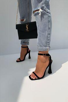 Ysl Heels, Black Heels, Shoes Heels, Sock Shoes, Cute Shoes, Shoe Boots, Dream Shoes, Crazy Shoes, Louis Vuitton Heels