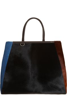 1457f8459d79 Fendi Large Calf Hair 2jours Tote Leather Bag