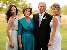 "ALL IN THE FAMILY - The Bush family, along with 200 guests, celebrate Jenna's nuptials in a Texas-style reception that included a sweet father-daughter dance to ""You Are So Beautiful."""