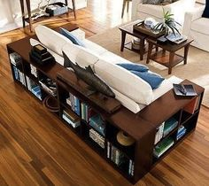All-in-one storage and end tables for a small space (especially one as full of books as mine!)