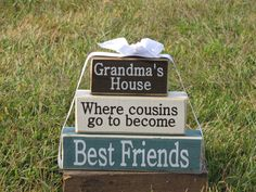 "Gift for Grandma - Wood Block Stack: ""Grandma's House..."" - Gift for Nana or Grandma. Christmas gift, Grandparents Day on Etsy, $30.00"