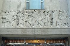 Sculptor: Lee Lawrie, 1931; architect: Holabird & Roche, 1932