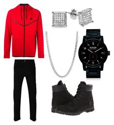 """""""Untitled #15"""" by lugo-brianne on Polyvore featuring Gucci, NIKE, Timberland, Belk & Co., Nixon, men's fashion and menswear"""