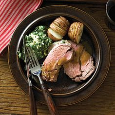 30 delicious ways with lamb | Lamb Shoulder Roast with Roasted Garlic Sauce | Sunset.com